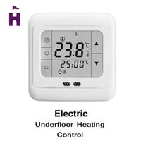 Wholesale Weekly Programmable Touch Screen Floor Heating LCD Display Thermostat Room Temperature Controller Thermometer