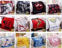 Wholesale 28 Styles Coral Fleece Blanket cm Anime Blankets Air Condition Sleep Cover Bedding high quality in stock RK0013