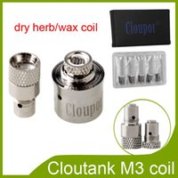 Wholesale Cloupor original Cloutank Series M3 M4 M2 dry herb wax coil head only for M3 Atomizer vs protank protank coils via epk DHL