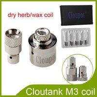Cloupor Cloutank Serie M3 M4 M2 cabeza hierba seca bobina de cera sólo para M3 atomizador vs Protank 2 Protank 3 bobinas través EPK DHL 0202016