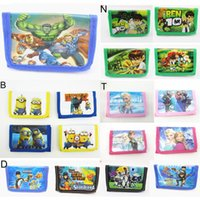 Unisex ben 10 - The Avengers Wallets Frozen minions KT Ben My little pony Ultron super heros Kids girls Childrens Purse Cartoon bag Iron Man z