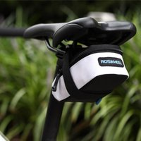 Wholesale ROSWHEEL Mountain Road Bike Bicycle Saddle Bag Cycling Back Seat Seatpost Tail Pouch Package Bag White Black