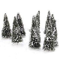 cedar - 10pcs White Dark Green Scenery Landscape Model Cedar Trees cm