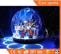 Wholesale Transparent christmas ball giant inflatable snow globe tent