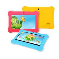 al por mayor quadcore tablet pc-Buque de EE.UU.! iRULU niños de 7 pulgadas Tablet PC Android 4.4 de Allwinner A33 Niños Tablet PC Tablets Quadcore Niño con el caso