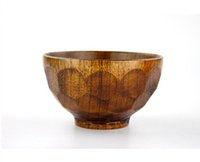 Wholesale Purely natural household Tableware Eco Friendly Jujube wood wooden bowl Bowls with turtleback pattern for men cm