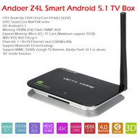 Wholesale Andoer Z4L Android TV Box RK3368 Octa Core Bits G G XBMC DLNA K D H WiFi M LAN Bluetooth HD Better than Z4 V1976