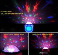 Wholesale 15pcs Magic Projection LED Sky Star Master Night Light Projector Lamp Bed Lazy Digital Alarm Clock Calendar Creative Mini Children s Gifts