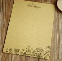 bargain flowers - 235 mm Vintage Flower Birds retro Kraft paper letter paper greeting letter paper bargains dandys