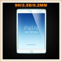 Wholesale Ultra thin mm D Tempered Glass screen Explosion Proof Shatter proof Screen Protector Film For Apple ipad Air ipad ipad mini