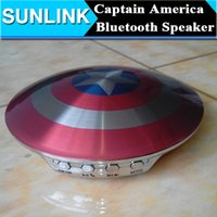 america support - The Avengers Captain America Shield Shape Wireless Bluetooth Mini Speaker Portable Audio Amplifier MP3 Music Player Box supports FM Radio TF