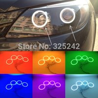 Wholesale For BYD S6 Excellent Angel Eyes kit Multi Color Ultrabright RGB LED Angel Eyes Halo Rings