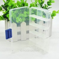 Wholesale Detachable Jewelry Storage Box Ornaments Case Transparent Jewellery Storage Case with Small Rectangle Cases Women Y57 JJ0078 M5