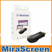 Wholesale Miradisplay WiFi Display Dongle Miracast DLNA Airplay Wireless HDMI P TV Stick For Android IOS Phone Support iOS9 OM CF5