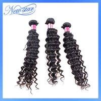 Wholesale 3bundles mixed lengths new star peruvian virgin human hair extension deep wave curly machine weft DHL