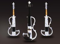 advanced painting - Tianyin Brand New Arrival Art Electric Violin Advanced Electric Violin with special painting design