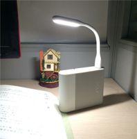 Wholesale 2015 NEW arrival Xiaomi mini USB LED Lamp light V W Colors Portable Flexible Light LED Light with USB For Power bank Computer Led Lamp