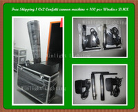 Wholesale High Quanlity pc Confetti cannon machine With Flycase Wireless DMX512 Controller