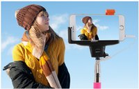 Wholesale New Listing Kjstar Z07 Wired Monopod handheld Extendable cable Stick Built in shutter control For iphone Android