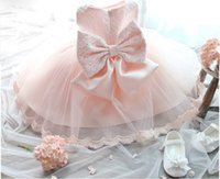 baby baptism party - 2015 Baby girl baptism dresses infant Princess christening gown clothing Toddler newborn lace tutu Birthday Party Dresses
