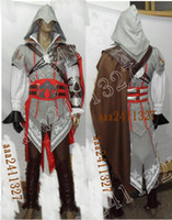Wholesale Assassin s Creed Costume II EZIO anime cosplay NEW