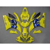 plastic injection molding - Yellow Blue Motorbike Fairing Kits For Yamaha YZF R6 ABS Plastics Aftermarket Motorcycle Bodywork Injection Molding Bodywork