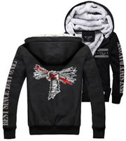 best warm hoodies - Fall CM Punk Thickening cotton padded jacket best since day one winter warm Flannel Hoodie Coats Soft Unisex Cashmere Sweatshirts New