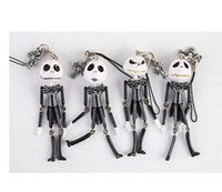 Wholesale 4pcs quot the Nightmare Before Christmas Jack Figures Toys Keychain Dangles Charms