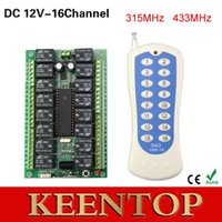 Wholesale DC12V CH Channel RF Wireless Learning Remote Control Switch MHZ Replacement Garage Door Opener transmitter receiver