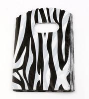 Wholesale Hotl Jewelry Pouch Zebra pattern Plastic Bags Jewelry Gift Bag x15cm x20cm x25cm