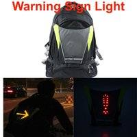 OPEN LED sign - Wireless GHz Cycling Backpacks LED Light Traffic Warning Sign Bicycle Backpack Rechargeable USB Cable Bike Bag Rucksack