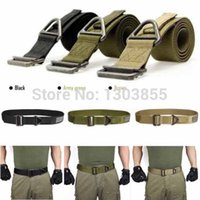 Wholesale 2014 Adjustable Survival Tactical Belt Emergency Rescue Rigger Militaria Military Colors freeshipping
