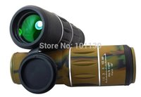 Cheap Wholesale-Desert Camouflage Dual Focus 16x52 Monocular Telescope for Sports Hunting Concert Spotting Scope with Green Film and Big Lens