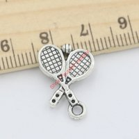 antique tennis racket - 20pcs Antique Silver Plated Tennis racket Charms Pendants for Jewelry Making DIY Handmade x15mm A115 Jewelry making DIY