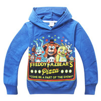 Wholesale Five Nights at Freddy s Hooded long sleeved color T shirt Children baby boy sport clothes New kids t shirt