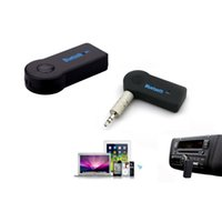Wholesale Bluetooth Car Kit Mini Bluetooth V3 Wireless Stereo Audio Music Receiver with Mic mm Hands for Car AUX Home Audio
