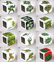 Wholesale 30pcs Teenage Mutant Ninja Turtles Christmas Kids Gift Alarm Clock TMNT Movie Colors Change LED Eletronic Clocks Childs Glowing