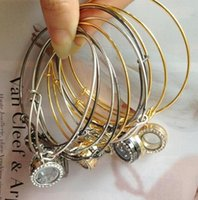 Wholesale Newest mm Floating Locket Bracelets Crystal Charms Glass Locket Bracelet Alex and Ani Locket Bracelet Bangles Gift