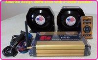 Alarm Systems america speaker - America design W wireless police car siren ambulance siren fire siren warning amplifiers alarm with remote units W slim speaker