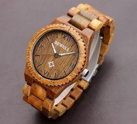 wood watch - New fashion wood bead bracelet Watch natural wood buddha beads bracelets wood case style women men jewelry Groomsmen gift Wedding Gift