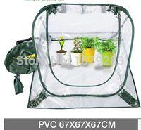 Wholesale Foldable mini green house transparent PVC plant house nursery pot compressible house