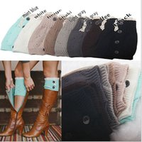 ladies socks - 8 colors NEW Fashion Ladies Crochet Boot Cuff Button Lace Knit Leg Warmer Boot Socks Knee Hosiery Girls Legging Frozen A Pairs