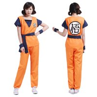 Wholesale PrettyBaby DragonBall Sun GoKu Cosplay Costumes kungfu uniforms Anime cosplay Party clothing clothes set Pt0246