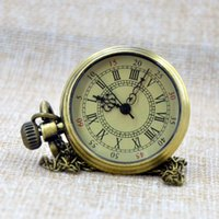 Wholesale Fast Shipping Compass Intellectual Temperament Vine Golden Watch Without Cover Gift Quartz Pocket Watch Reloj A180