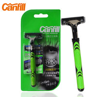 best head shave - Sets CANFILL Razors Best Manual Shaving Razor Replacement Triple Blade Heads Men Razor Set In Original Package