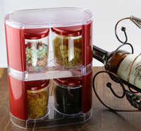 Wholesale Gold Eco Friendly Box Seasoning Box Storage tank Jars Combined Sent Spoon Package Kitchen Tool