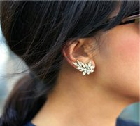 Wholesale Earrings For Women Fashion High Quality Acylic Rhinestone Gold Silver Plated Stud Jewelry Piece ER578