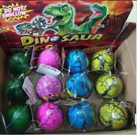 Wholesale 2015 Style set Christmas Easter eggs Dinosaur Eggs Animals Eggs DIY handpainted eggs hatch out animals creative toys BBA3352 set