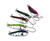 Wholesale New arrival Colourful Fishing Spoon Lures cm g Spinner Silver Metal Hard Bait Fishing Lure SP012