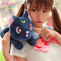 Wholesale New pc Anime Purple Soft Plush Cotton Doll Tissue Box Sailor Moon Luna Cat Cosplay Toys